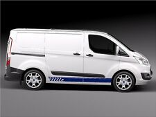 FORD TRANSIT CUSTOM SIDE STRIPES decals Stickers Graphics (Any colour)