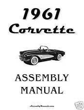 1961 Corvette Assembly Manual 61