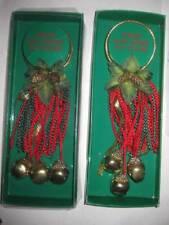 vtg Russ jingle bells cluster door knob hanger set of 2 sounds of christmas
