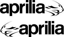 2 x APRILIA lion logo de R & L-Taille 200 mm x 50 mm - 21 Couleurs -