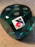 Svoboda Karlov Glass Dice Hand Made Czech Republic