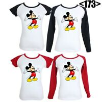 Disney Mickey Mouse Cute Design Graphic Tees Tops Women's Girls Ladies T-Shirt