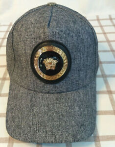 Versace Baseball Sport Hat Adjustable Gray Cap Unisex