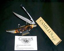 Camillus 31 Knife Sword Brand Handmade 1970's Indian Stag Handles W/Packaging