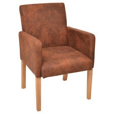 Accent Arm Chair Fabric Upholstered Dining Chair Side with Wood Legs Living Room