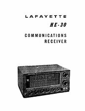Owners Manual For Lafayette HE-30  HA-320  KT-320  9R59