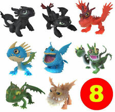 8pcs Cartoon Movie How To Train Your Dragon Mini Figure Kids Toys Dolls -NEW