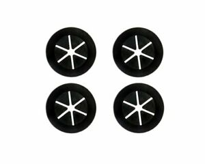 PrimoChill 1 Inch Cable / Tubing Rubber Pass Thru Grommet - 4 Pack