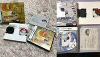 Nintendo DS Pokemon Heart Gold & Soul Silver set NDS w/pokewalker Japan