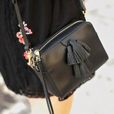 NWT Rebecca Minkoff MINI SOFIA CROSS BODY Black Leather Bag Tassels Current $245