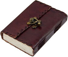 Small 1842 Poetry Genuine Leather Blank Book  (Handamde) with lock - 40% off