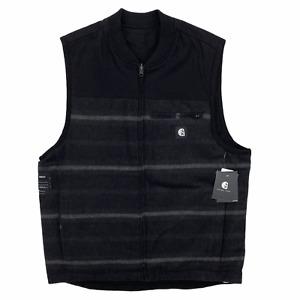 Hurley x Carhartt Men's Sleeveless Reversible Vest Black Stripe Water Resistant