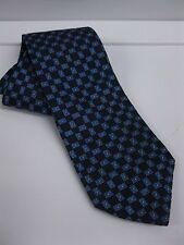 IKE BEHAR Blue Tie Check 100% Silk Made in USA