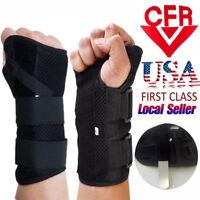 Wrist Splint Brace Protection Support Strap Carpel Tunnel Arthritis Pain Relief