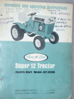 917.25120 Sears Suburban SS12 Tractor Owners Manual on CD