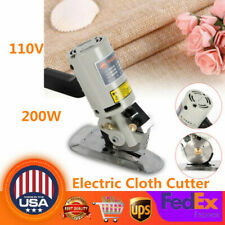 Electric Scissors Cloth Cutter Fabric Cutting Machine 90mm Shear Rotary 110V