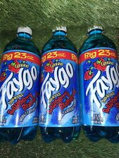 (3) Blueberry Raspberry Soda Big 23oz Exotic Rare Blue Pop Lil Mosey 3-pack