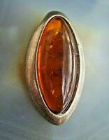 klassischer anhänger oval mit baltischem honig bernstein silber 925 v juwelier