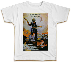 Mad Max Movie Poster T-Shirt - Mel Gibson Retro Vintage Gift Present Dad