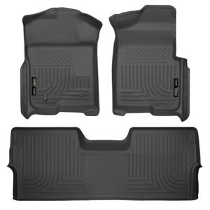 WeatherBeater Black Liners for 09-14 Ford F-150 Crew Cab [1st+2nd Row Footwell]
