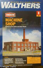 "Walthers N #933-3264 Machine Shop -- Kit - 8-1/8 x 5-3/16 x 6-1/2"""