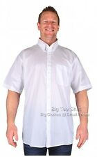 Big Mens White Espionage Markham Short Sleeve Shirt 2xl 3xl 4xl 5xl 6xl 7xl 8xl