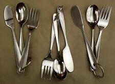 3 Sets - Stainless Steel Fork Knife & Spoon in Each Cutlery /  Chow Set
