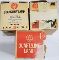 3  GE 24w 250w EMM EKS Projector Bulb Lamp Bell & Howell 16mm Quartzline
