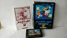 ICE WORLD MSX MSX2 Game cartridge,Manual,Boxed set tested -a530-