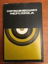 Continuum Mechanics: An Introductory Text For Engineers Hardcover Philip Hodge