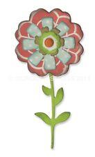 Fustella 6 fustelle thinlits fiore fiori strati gambo Big shot Sizzix 660325
