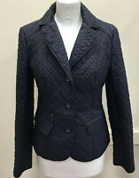 Savile Row Womens Size 10 Woman Navy Quilted Padded Fitted Jacket Coat Ladies