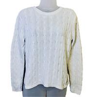 Ralph Lauren Polo Jeans Co. Vintage Cable Knit Sweater  Womens  M Medium  White