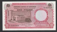 Bank//Man Working//p8 AU Nigeria 1 Pound ND//1967