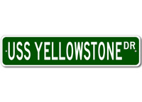 USS YELLOWSTONE AD 41 Ship Navy Sailor Metal Street Sign - Aluminum