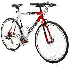 Hybrid Bike Men Bicycle 21 Speed 54cm Aluminum Frame Shimano Shift Handlebar NEW