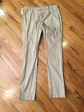 NWT Theory Men's Crinkly Beige Pants, Size 32 (32 X 34)