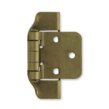 "H01915C-AE  Antique English Brass  1/2"" Overlay Semi Wrap Hinge Pak of 2"