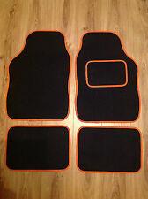 Universal Car Mats Black& Orange Trim For Nissan Micra Juke Note Pixo Qashqai