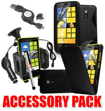 7 X ACCESSORY BUNDLE KIT FOR NOKIA LUMIA 620 + CASE COVER CAR HOLDER CHARGER