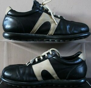 CAMPER Classic Pelotas Leather Lace Shoes - 43 UK Size 9 - Black & Grey - Mens