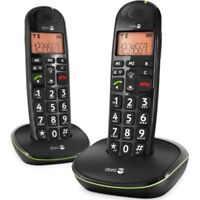 Doro PhoneEasy 100w Duo DECT Schnurlostelefon + zusätzlichem Mobilteil schwarz
