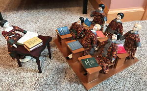UNIQUE Antique Vintage German China Head Doll French Books Classroom Dolls Lot