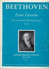 Beethoven Easier Favorites