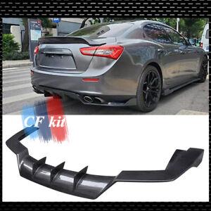 For Maserati Ghibli 2017-2020 Carbon Fiber Rear Bumper Diffuser Lip Body Kit