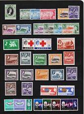 Antigua - 13 Early QE2 sets, mint, cat. $ 33.45