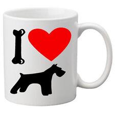 I Love Schnauzer Dogs on a Quality Mug. Great Novelty 11oz Mug.