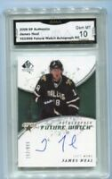 2008 James Neal Upper SP Authentic Auto Autograph rookie gem 10