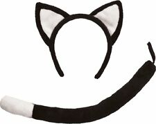 Child Fancy Dress Cat Set Black Ears and Tail