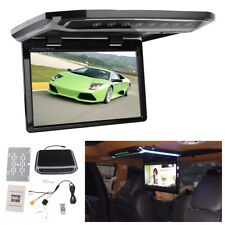 "1080P 10.2"" Car Roof Mount Flip Down Monitor Overhead Multimedia Video FM HDMI"